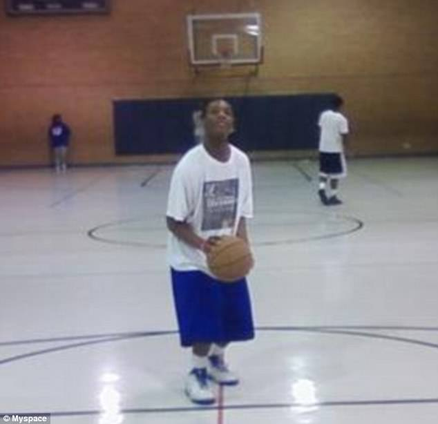 Gilstrap-Portley had a relatively successful college basketball career as a guardsmen for the Dallas Christian College between 2013 and 2014. Here he is pictured on the court, on his MySpace page, as a teenager