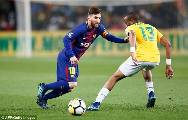 Lionel Messi made a late appearance to help his side see out their 3-1 on Wednesday evening