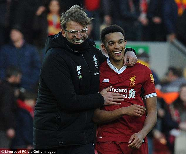 Jurgen Klopp told Trent Alexander-Arnold he was in England's 23-man World Cup squad