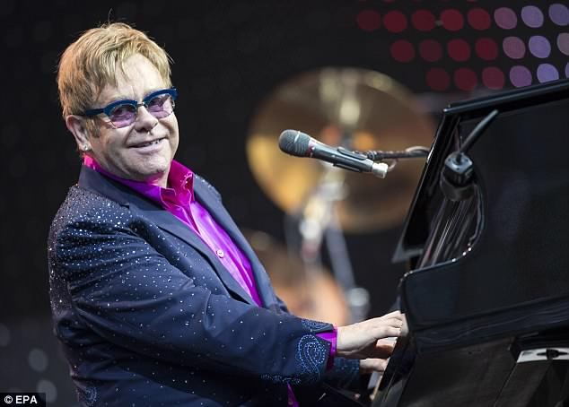 Icon: According to the new reports, Elton is set to be entertaining the star-studded guest list at this weekend's eagerly anticipated ceremony