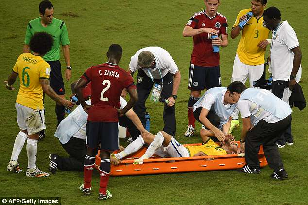 Neymar's only other World Cup experience came at Brazil 2014 when he suffered an injury