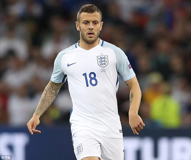 Arsenal playmaker Jack Wilshere was also omitted from the 23 by Southgate on Wednesday