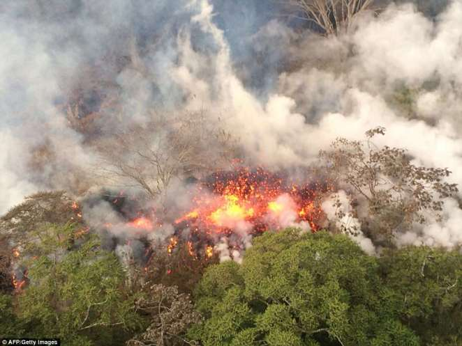 A shelter in place warning has been issued after Hawaii's Kilauea volcano erupted from its summit on Thursday