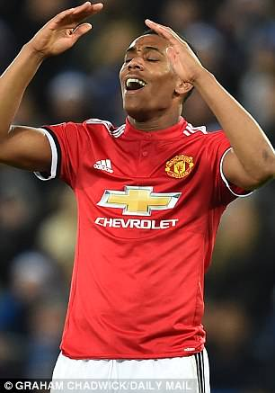 Anthony Martial has only made the reserve list for France's team