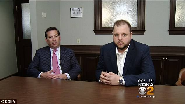 Innocent: Rachael DelTondo's ex-fiance Frank Catroppa - nicknamed The Wolf of Aliquippa - told KDKA-TC it was a 'sad, sad case' while his attorneyStephen Colafella added: 'We wanted to be very, very clear publicly that Frank Catroppa has absolutely nothing whatsoever to do with what happened.'