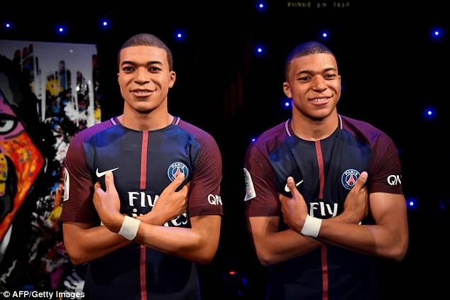 The 19-year-old Paris Saint-Germain striker is the youngest person to be immortalised