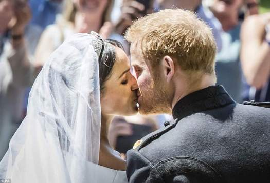 Meghan Markle has married Prince Harry in a moving service that saw the newlyweds sharing tears, laughter and a passionate kiss in front of their thousands of adoring guests