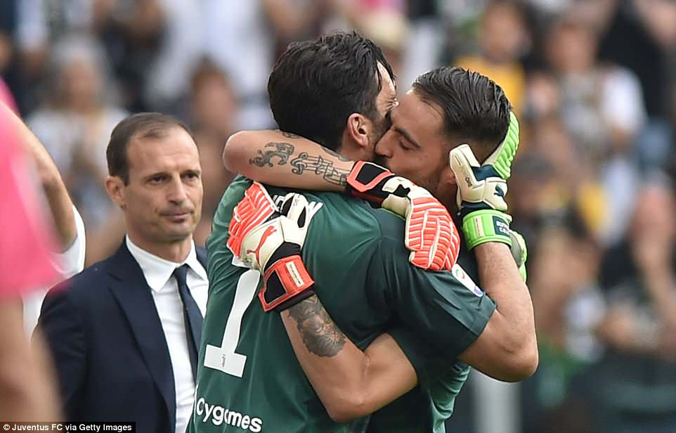 Buffon was replaced by Carlo Pinsoglio, who conceded a goal, but Juventus held on to win 2-1 in the captain's final match
