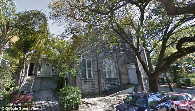 Pretty: The stone building surrounded by leafy trees was reportedly purchased by the world famous singer