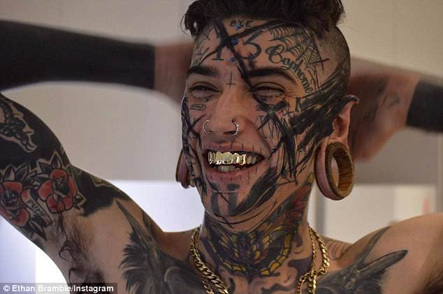 Ethan Bramble, 21, from Newcastle is known as 'the worlds most modified youth'