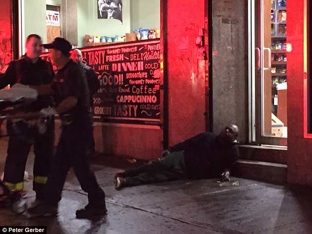 Witnesses at the scene said the drug users looked like zombies and could barely keep their bodies upright