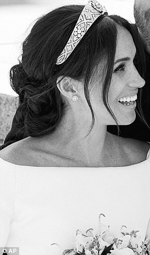 Meghan Markle Shows Off In Veil Free Wedding Photo With
