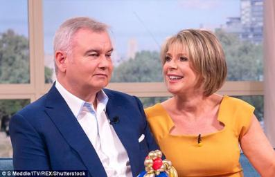 Eamonn Holmes and Ruth Langsford on This Morning. Holmes has told how he has been liberated by a hearing aid after going through the 'manopause'