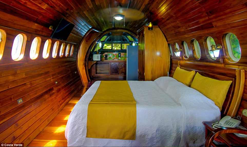 The owners also converted the cockpit section of a McDonnell Douglas, MD-80 fuselage, into a cottage