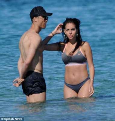 Cristiano Ronaldo and girlfriend Georgina Rodriguez Show off sic' bodies in Ibiza.