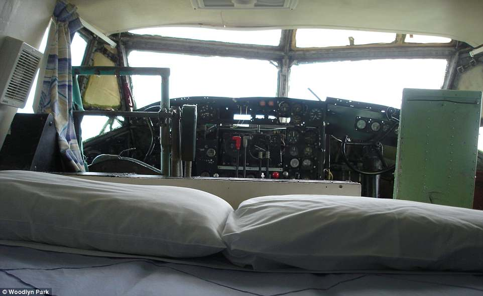 The aircraft, which was one of the last allied planes out of Vietnam, has been converted into a two-room unit and one of the bedrooms allows guests to sleep in a cockpit