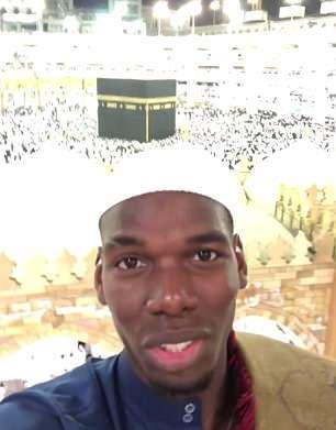 Paul Pogba made the umrah pilgrimage to Mecca to mark the start of Ramadan