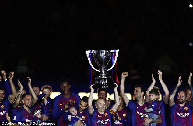 The Barcelona captain bowed out in typical fashion by lifting the ninth La Liga title of his career