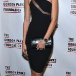 Josephine Skriver dons LBD in New York