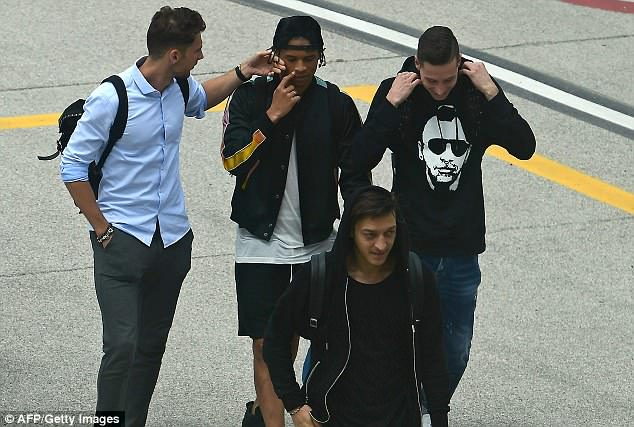 Mesut Ozil, Leroy Sane and their Germany team-mates arrive in Italy on Wednesday