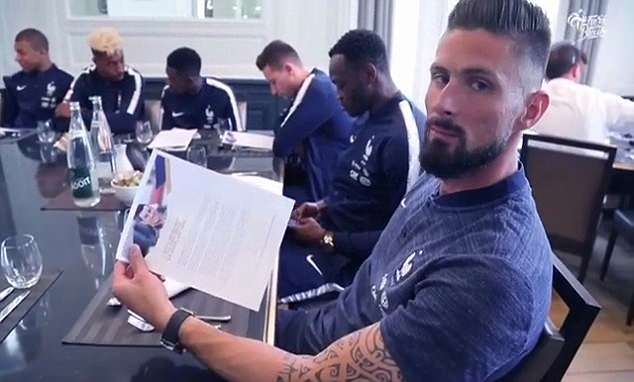 Olivier Giroud was particularly struck by his former Arsenal team-mates words