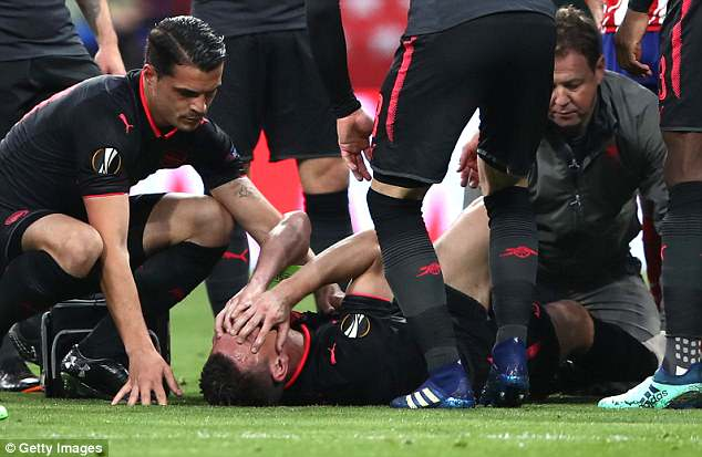 Koscielny suffered an injury for Arsenal that ruled him out of the World Cup this summer