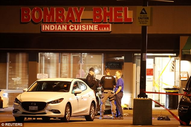 At least 15 people were injured Thursday night when a bomb detonated at this re
