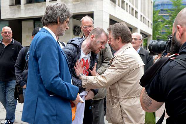 There were scuffles outside court between people who supportedChabloz and those who were pleased to see her prosecuted