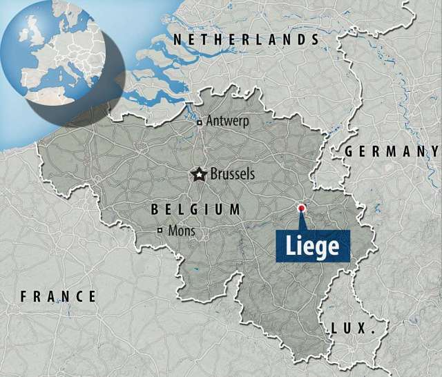 Shooting: The unnamed attacker killed two police officer and a witness in the city in eastern Belgoum on Tuesday morning