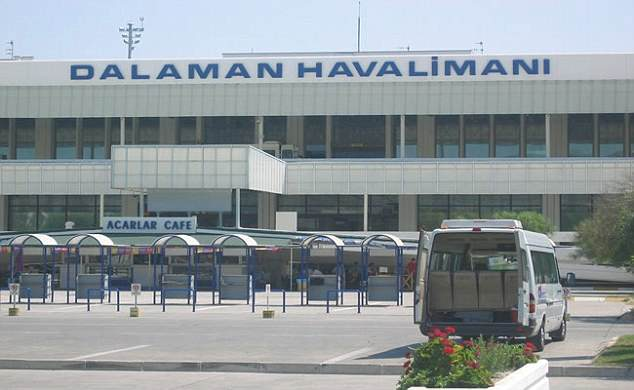 The man died in hospital a short time after the incident at the airport (pictured) earlier today