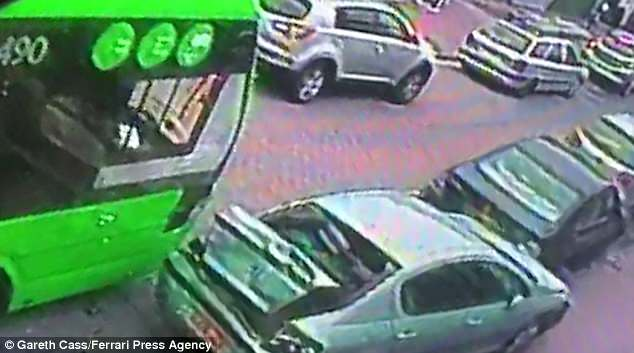 Stunned shoppers told how cars flew 'like dominos' as a video showed the moment it sped along Hythe Street