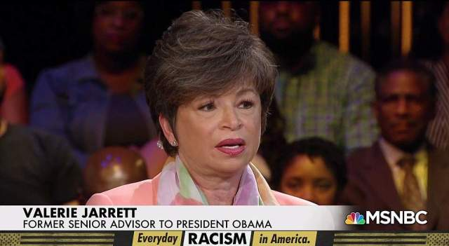 Victim: Valerie Jarrett was born in Iran to African-American parents, and her great-grandfather was the first credited African American architect