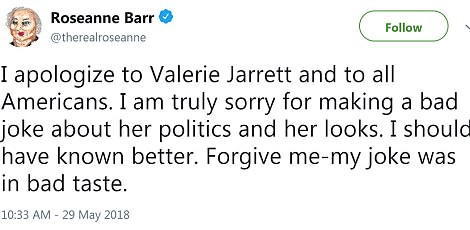 Post-rant apologies: She also released a general apology to Jarrett on Wednesday morning
