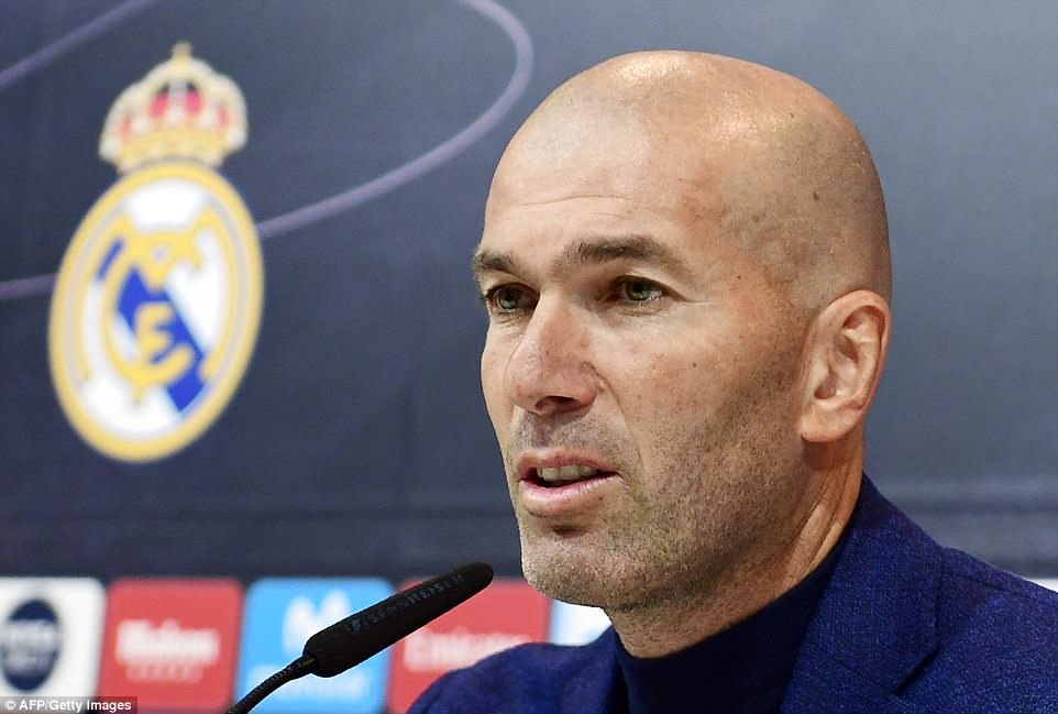 Zidane sensationally announced the news after calling an unexpected press conference at the Bernabeu on Thursday