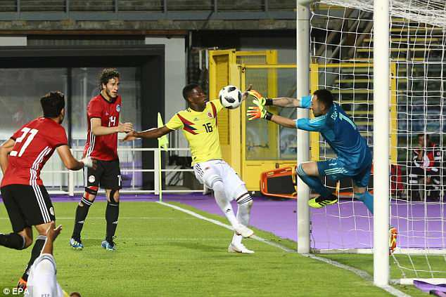 Egypt and Colombia played out a goalless draw on Friday night, David Ospina here in action