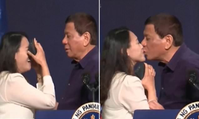 Resulta ng larawan para sa duterte kiss