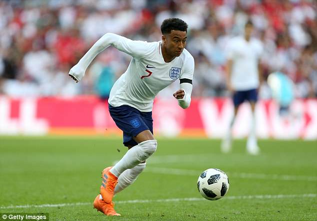 England forward Jesse Lingard was listed as one of the lightest players in Russia - at just 60kg