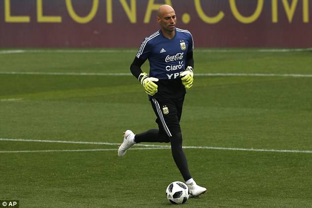 Willy Cabellero will be vying for a starting place but it looks unlikely after missing No 1 shirt