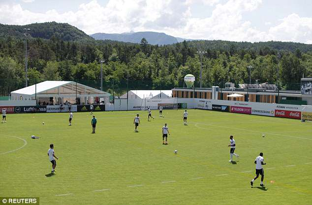 The Germany squad prepare for their final World Cup warm-up match against Saudi Arabia