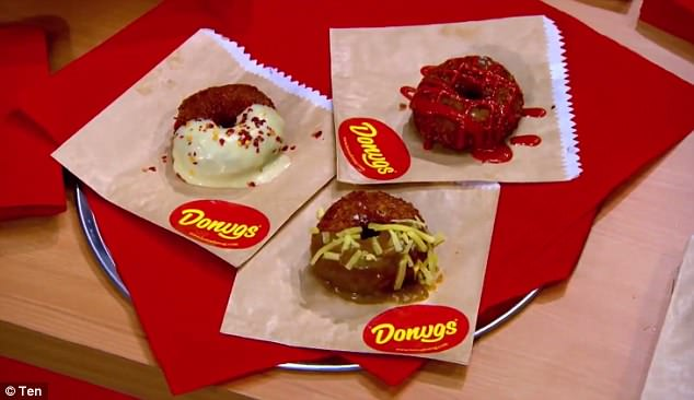 The fried finger food called Donugs is across between a chicken nugget and a doughnut