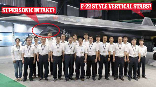 China has finally unveiled its unmanned combat drone Dark Sword after a decade of rumours. A new photo appears to show the aircraft has a supersonic intake vent and stabilisers like the US F-22 Raptor jet, suggesting it is designed for use as a fighter jet rather than a stealth drone