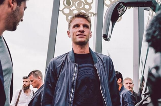 Thomas Muller and co made their way back to Germany on Thursday in a stylish manner