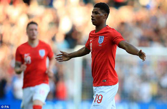 Manchester United's Rashford was the star of the show in England's final warm up game