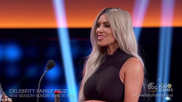 Ouch! Khloe poked fun at Kim's knowledge of Celebrity Family Feud, teasing, 'You're a big fan'