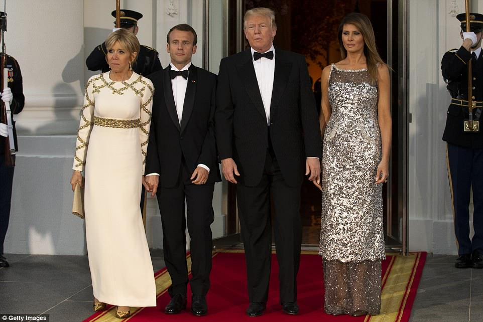 French President Macron and President Trump had a close relationship. Trump and the first lady hosted the French president and his wife for their first official state dinner.