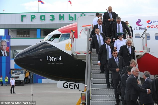 The Egyptian team have arrived just five days ahead of their opening game against Uruguay