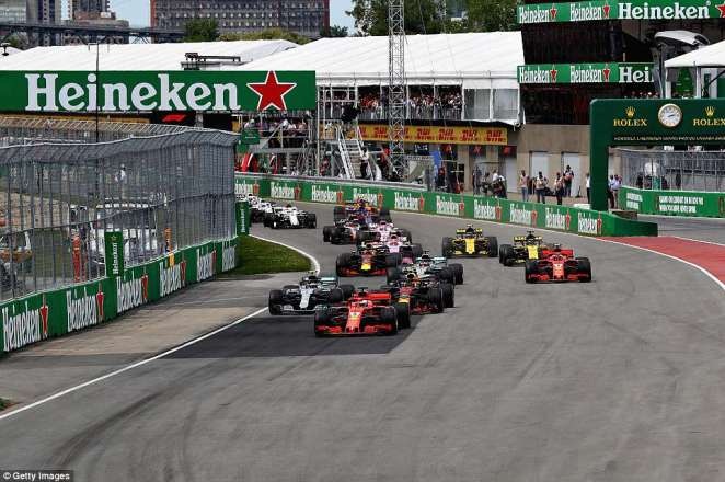 Vettel got a perfect start heading into one, asValtteri Bottas and Max Verstappen battled in behind to claim second