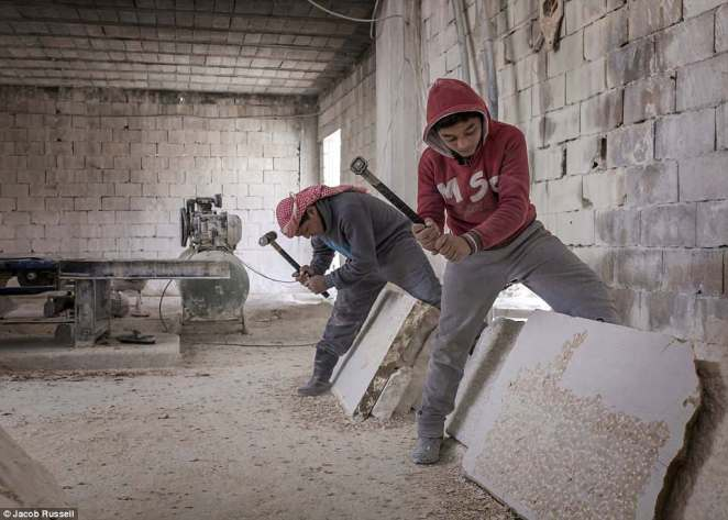 Brothers aged 13 and 15, originally from Damascus, have worked in a stone quarry in northern Bekaa for the past two years