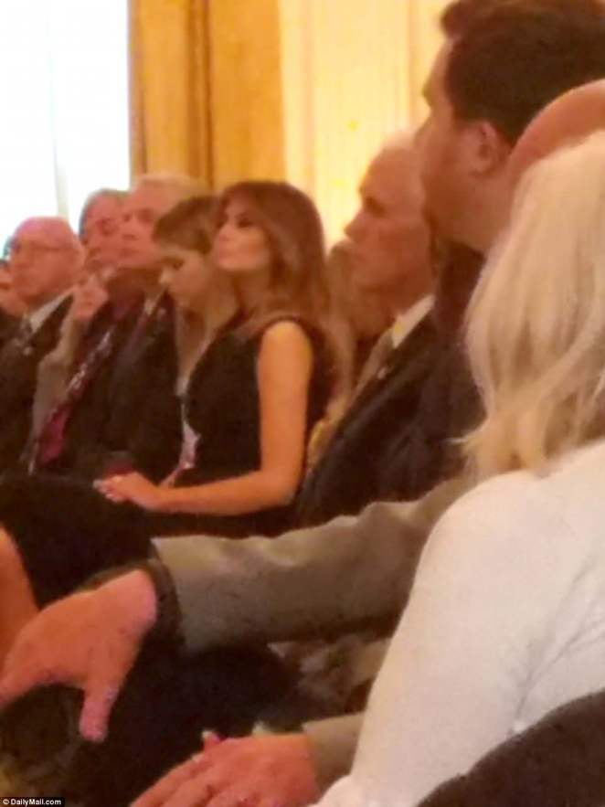 Melania Trump at the Gold Star event at White House last week in her first public appearance in 25 days