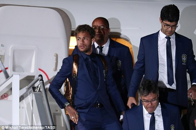 Neymar and Co touched down at Sochi International airport on Sunday for the tournament
